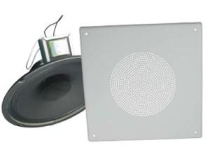 TT81070TS   Square 25/70volt 4 Watt Ceiling-Wall Flush Mount Speaker