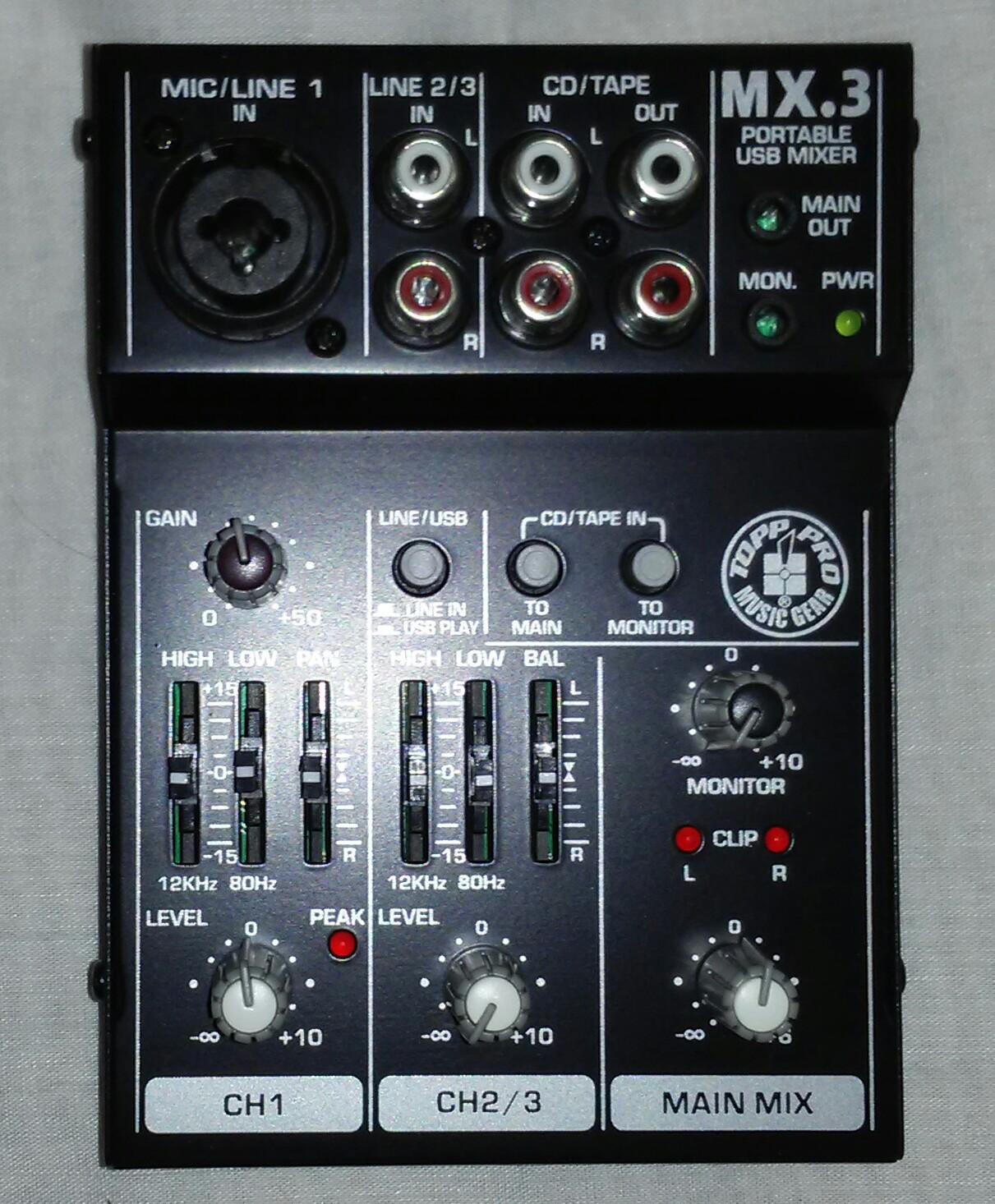 MX3   Mini 3 Channel Portable Mixer