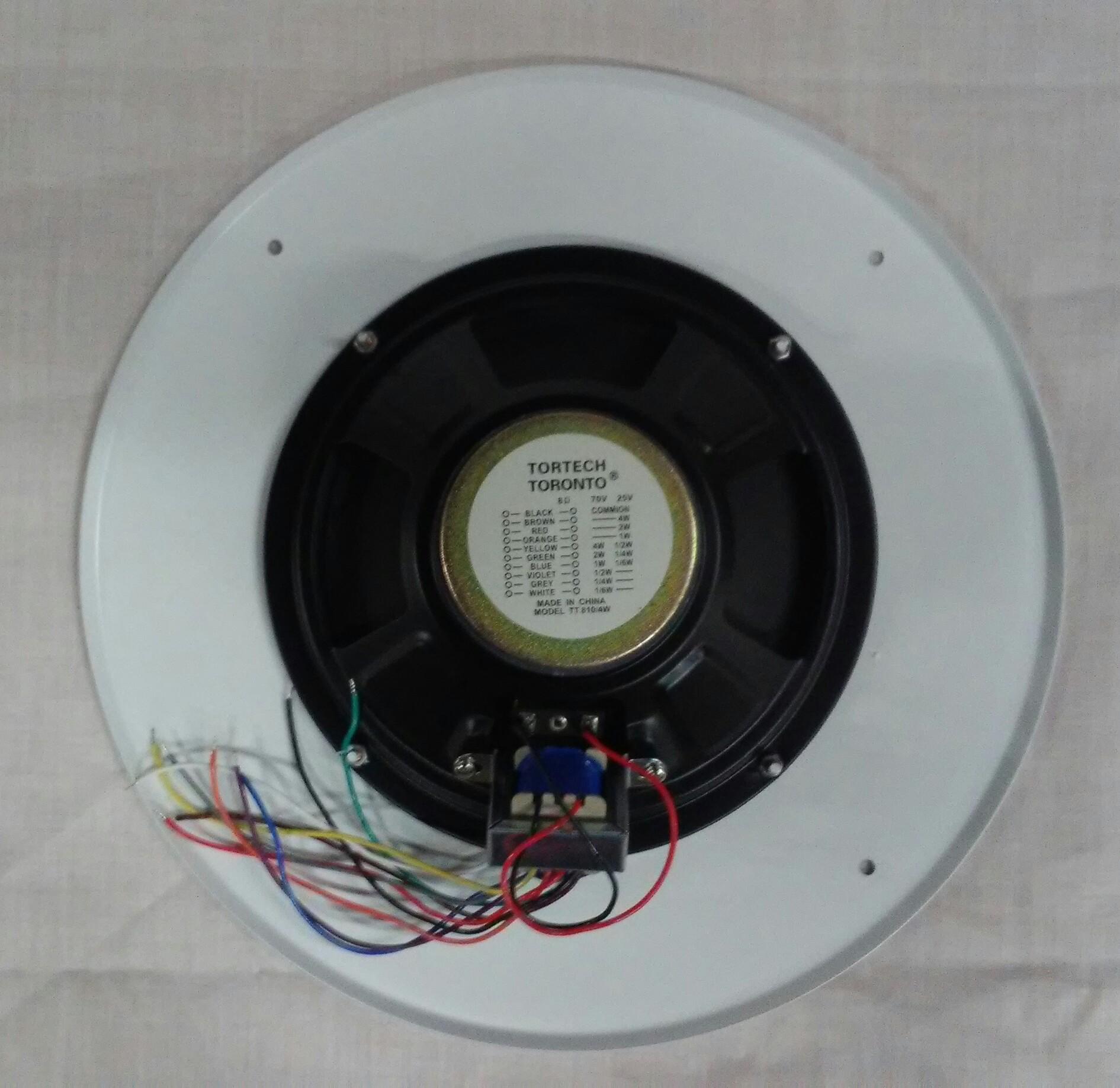 TT81070TR   Round 25/70volt 4 Watt Ceiling-Wall Flush Mount Speaker