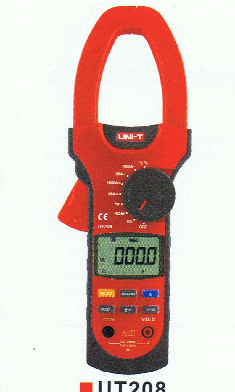 UT208  Uni-T   Clamp Meter DMM with Temperature & Frequency